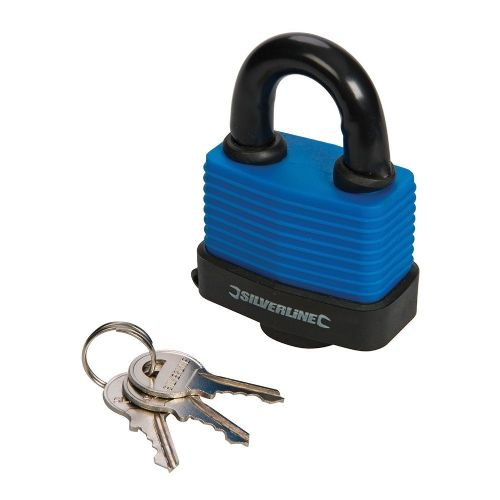 Silverline 598493 Weather Resistant Padlock 60mm